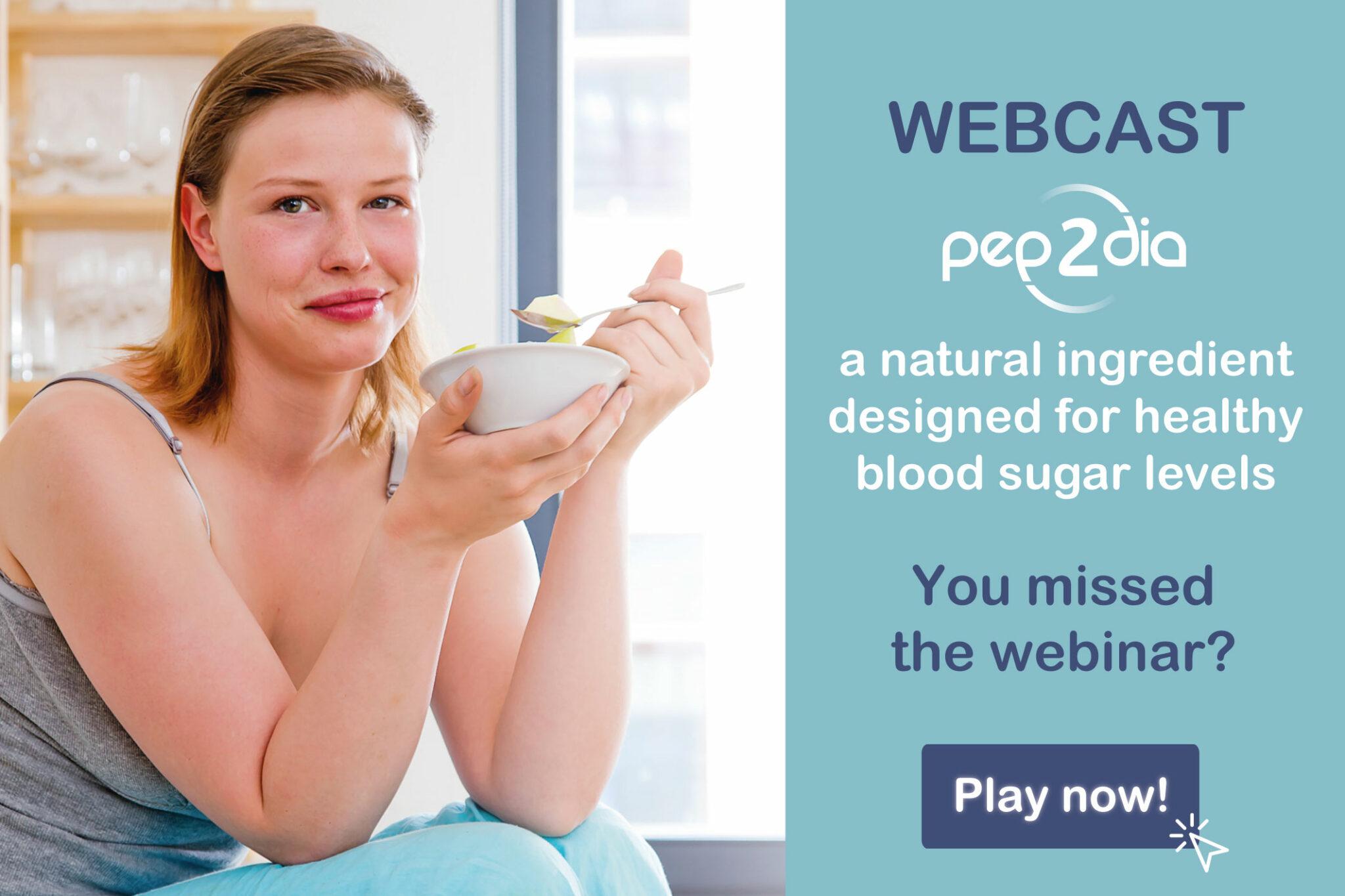 Replay webinaire Pep2Dia, un ingrédient naturel conçu pour une glycémie saine
